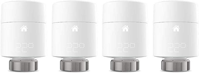 Tado Smartes Heizk/örper-Thermostat Quattro Pack, Zusatzprodukte f/ür Einzelraumsteuerung, intelligente Heizungssteuerung