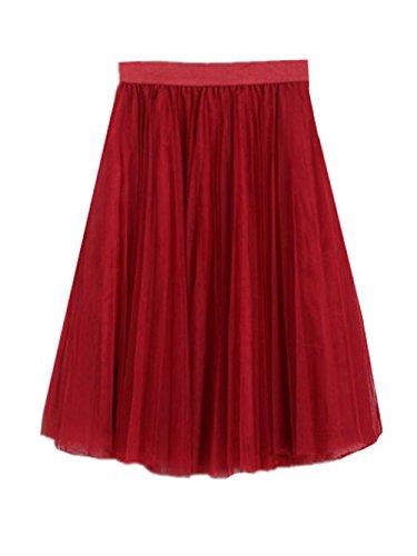 Longue ElGant Tulle Jupe Glamour Jupe En Slim Tendance Fit Red Beau A Line Femme Skirt Jupe Jupe Femelle Jupe Mi Haililais T wz08qnx