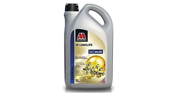 Millers Oils XF Longlife 0w30 C2 SN Aceite de Motor Totalmente sintético, 5 litros: Amazon.es: Coche y moto