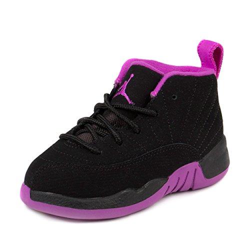 Nike Baby Girls Jordan 12 Retro GT Black/Metallic Gold St...