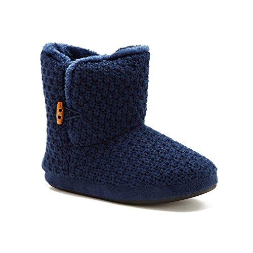 Zapatillas Náutica Mujeres Meridian Botaie Con Forro De Piel Abrigada Azul Marino