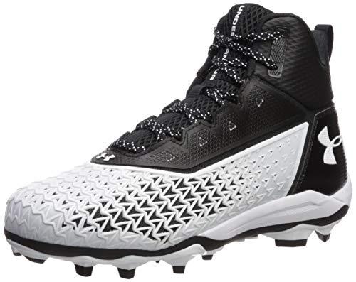 Under Armour Men's Hammer MC Football Shoe, Black (001)/White, 8.5