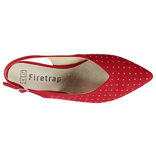 Flat Red Womens Firetrap Shoes Saski V qw6x1vY