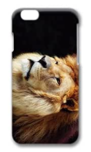 MOKSHOP Adorable King Lion Hard Case Protective Shell Cell Phone Cover For Apple Iphone 6 (4.7 Inch) - PC 3D