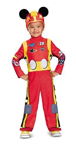 Mickey Mouse Halloween Costume Toddler (Mickey Roadster Classic Toddler Costume, Multicolor, Small (2T))