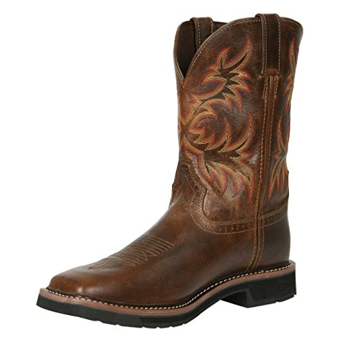 "Justin Original Work Boots Men's Stampede Collection 11"" Boot Stampede Square Toe,Rugged Tan,10.5 D US"