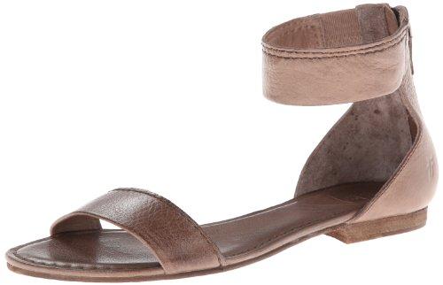 FRYE Women's Carson Ankle Zip Gladiator Sandal, Grey, 6.5 M - Frye Strap Ankle Heels