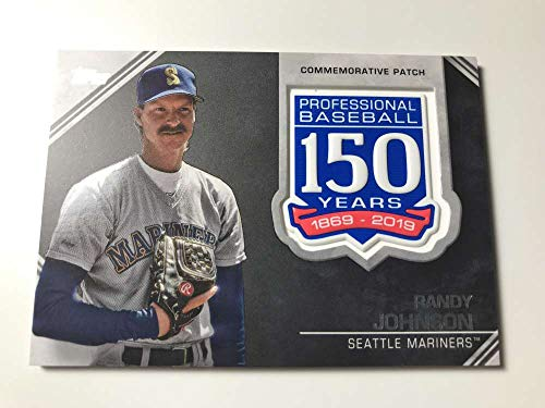 size 40 f2a4b 272aa 2019 Topps 150th Anniversary Commemorative Patch  AMP-RJ Randy Johnson  Seattle M..
