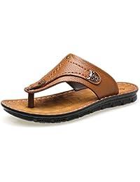 533d19dcc874ed Men s Beach Shoes Leisure Flip Flops Slippers Leather Sandals