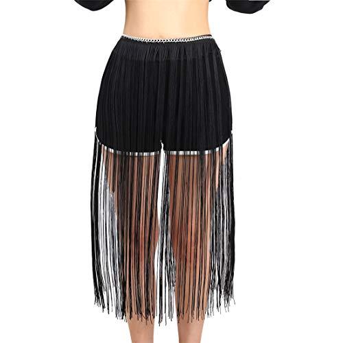 - Mrotrida Women's Fringe Belt Skirt Fashion Long Tassel Waist Belt Chain Adjusted Fringe Skirt Decoration for Waistline:27.5-33.4 inch
