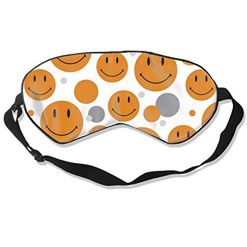 Eye Mask Pattern Smiley Face Customized Eyeshade Sleep Mask Soft for Sleeping Travel for Adults -