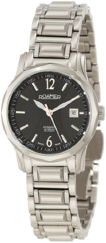 Roamer of Switzerland Women's 413561 41 54 40 Stingray Automatic Black Dial Steel Date Watch