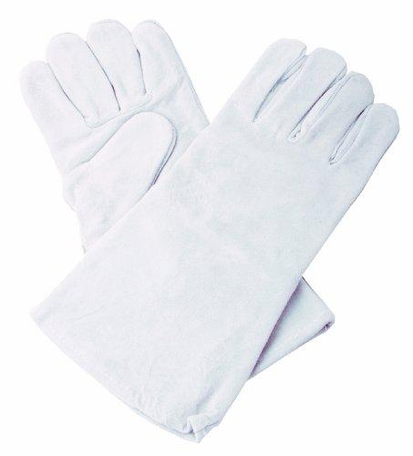Shark 14401 Grey Economy Leather Welding Gloves, 15-1/2-Inch Long (Economy Welding Gloves)