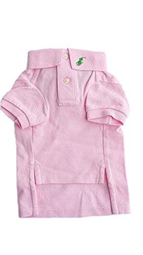 (Ralph Lauren Dog Puppy Pet Polo Shirt Designer Clothing Blue Pink Size S M L £45 (Small )