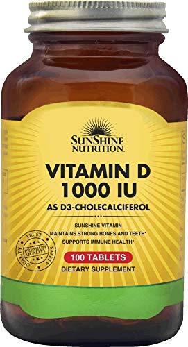 SUNSHINE NUTRITION Vitamin D 1000 Iu, 100 Tablets