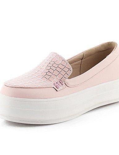 Redonda Vestido Uk8 us10 5 De Mujer Blue Pink Zq Azul Zapatos Punta Negro Mocasines 5 us10 Cn43 Eu42 Rosa Plataforma 5 Semicuero a4wXy0q