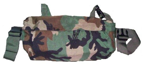 Us Army Woodland Camo (Official US Military Woodland Camo Molle Waist Pack / Butt Pouch)