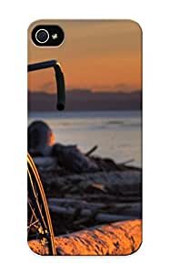 Crazinesswith Series Skin Case Cover Ikey Case For Iphone 5/5s(bicycle In The Sunset)
