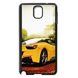 Yellow Ferrari Car 7 Samsung Galaxy Note 3 Cell Phone Case Black TPU Phone Case SV_253321