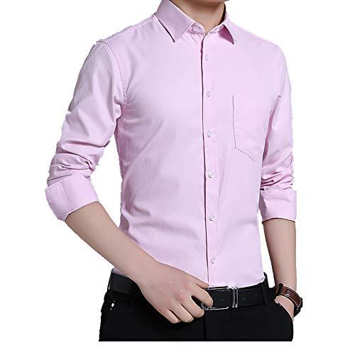 NOBRAND – Camisa de manga larga para hombre, sin hierro y de moda