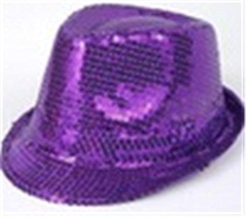 ylovego Sunhat Children Boy Girl Stage Show Hat Party Costume Fashion Sequins Fedora Hat Jazz Cap Drop Purple (Beanie Era New Penguins)