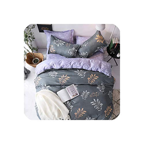 mamamoo Green Lemon Winter Bedding Sets Full King Twin Queen King Size 4Pcs Bed Sheet Duvet Cover Set Pillowcase Without Comforter,B2,Full Cover 180By220,Flat Bed Sheet (Tinkerbell Full Set Comforter)