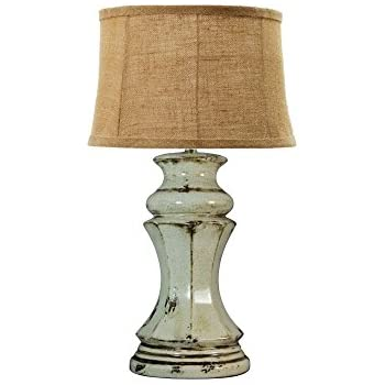 fangio lighting traditional ceramic table lamp 29inch transparent grey crackle