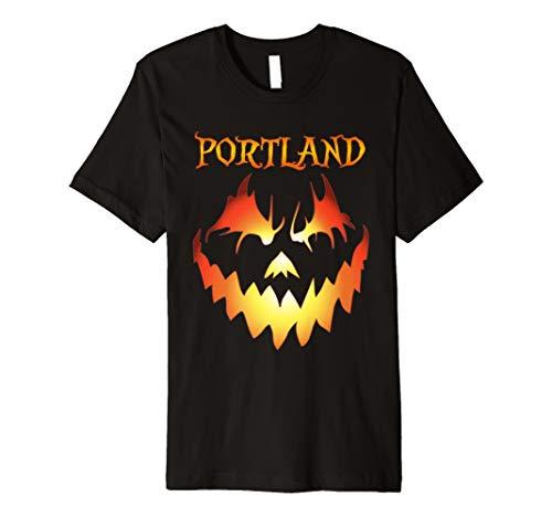 Portland, Oregon Jack O' Lantern Halloween Premium Shirt