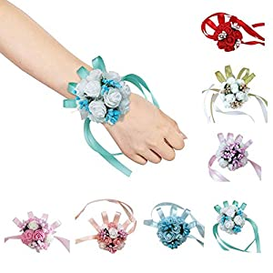 Corsage Wrist Hand Flower - Bride Wedding Party Decoration Wedding Ball Wrist Corsages Hand Flower for Wedding Party (1 Pcs) 91