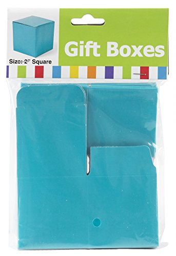 Mini Turquoise Gift Boxes (24 Pack)