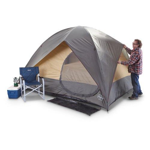 Prospector Tall Boy 2 – room 10×12 foot Tent Olive / Golden Cream / Amber Trim, Outdoor Stuffs
