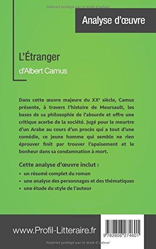 Amazon.com: L\'Étranger d\'Albert Camus (Analyse approfondie ...