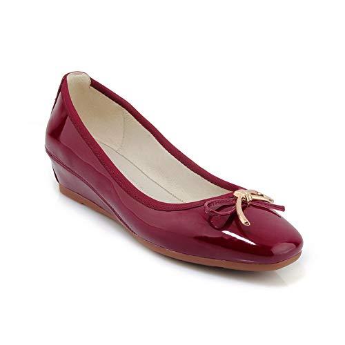 Sandales 36 Rouge Bordeaux AdeeSu 5 SDC05980 EU Femme Compensées 5Yvwq