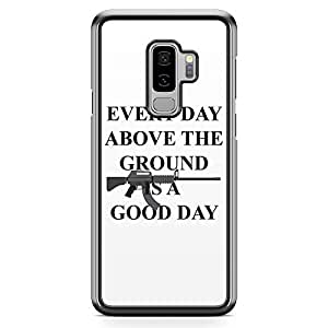 Loud Universe Gun Style Tony Montana Samsung S9 Plus Case Scarface Good daySamsung S9 Plus Cover with Transparent Edges