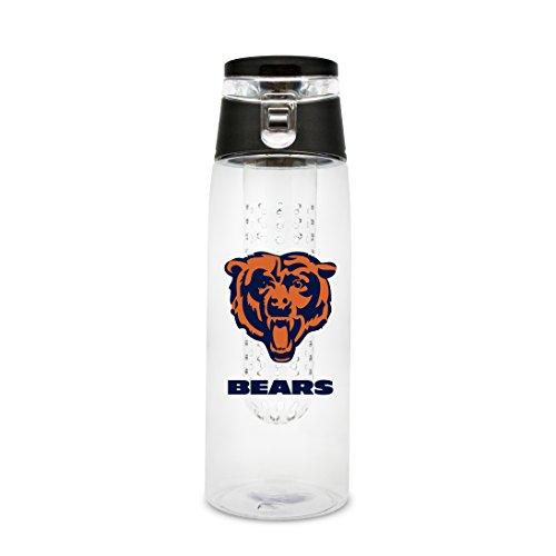 (NFL Chicago Bears 20oz Plastic Infuser Sport Bottle )