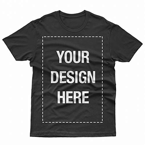Add Your Own Custom Text Name Personalized Message or Image Jet Black T-Shirt - XLarge (T Christmas Shirt Make Your Own)
