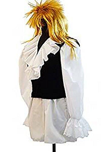Gothic-80's-Panto-Bowie-Jareth-Labyrinth Goblin King Shirt, Waistcoat & Wig Men's Fancy Dress Costume -