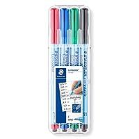 Bolígrafos corregibles Lumocolor de Staedtler (305FWP4)