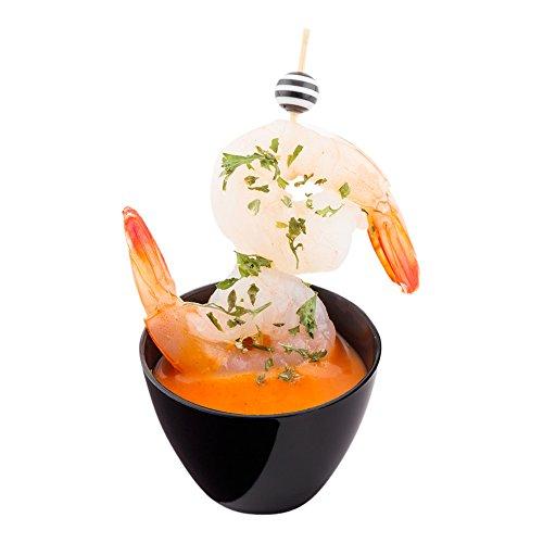 Black Dessert Bowl - Black Mini Tasting Bowl, Appetizer Bowl, Mini Dessert Bowl - 2 oz Plastic Bowl - 100ct Box - Restaurantware