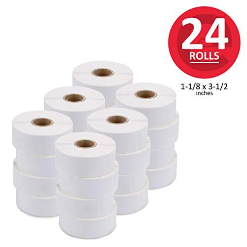 enKo [24 Rolls, 8400 Labels] Address & Shipping Labels 30252 (1-1/8 x 3-1/2