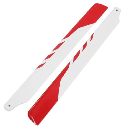 Water & Wood Pair 325mm Glassfiber Main Rotor Blade Red White for Trex 450 XL SE V2