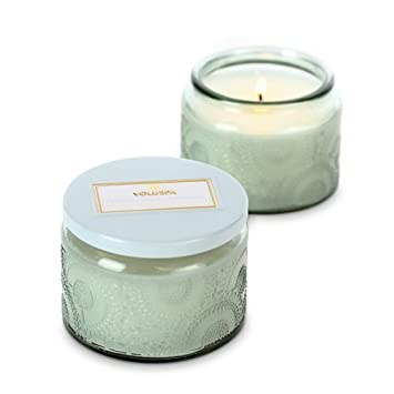 Amazoncom Voluspa Small Glass Jar Candle French Cade And Lavender