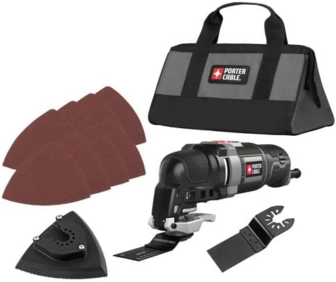 PORTER-CABLE Oscillating Multi-Tool Kit, 3.0-Amp, 11-Piece PCE606K