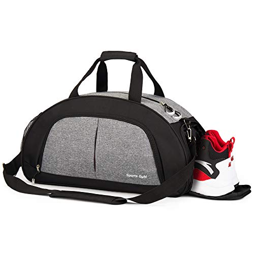 Sports Gym Bag with Wet Pocket & Shoes Compartment Travel Duffel bag for Women & Men(Grey)