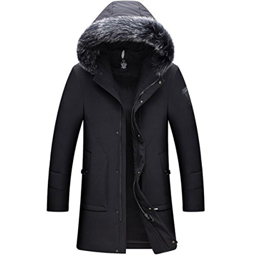 Jacket Warm New Casual Long Winter Section Men's Black Padded Down LINYI Hooded Y8CZZT
