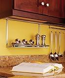 Multi-Purpose Shelf, Backsplash Railing System, Stainless steel / matt nickel, 440 x 275mm