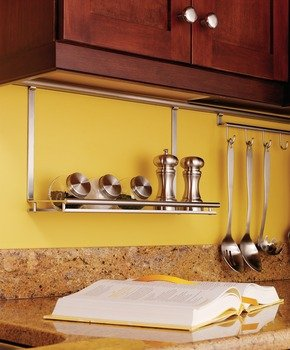 Multi-Purpose Shelf, Backsplash Railing System, Stainless steel / matt nickel, 440 x 275mm by Hafele