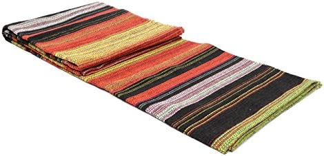 Open Road Goods Handwoven Outdoor Yoga Blanket – Handmade Multicolor Yoga Mat, Beach Blanket, Picnic Blanket or Decorative Throw