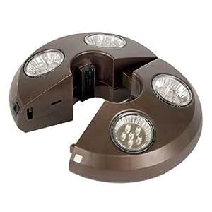 Swim Time 4-Light Rechargeable LED Umbrella Light by Treasure Garden Garden, Lawn, Supply, Maintenance