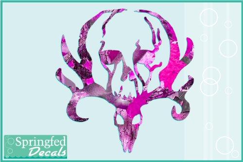 PINK-CAMO-Deer-Skull-1-Cut-Vinyl-Decal-4-Car-Truck-Window-Sticker